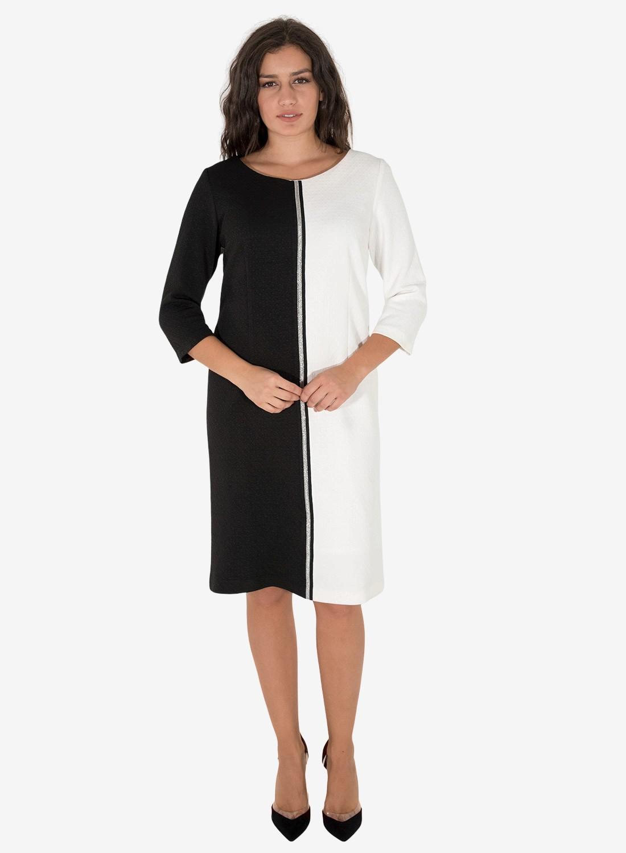 Cocktail ασπρόμαυρο φόρεμα