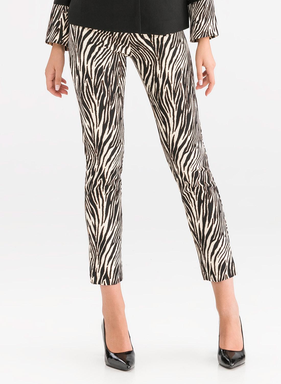 Animal print παντελόνι