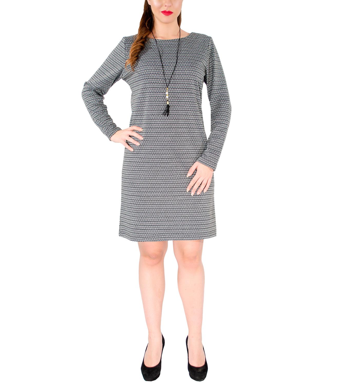 Ασπρόμαυρο ευκολοφόρετο φόρεμα