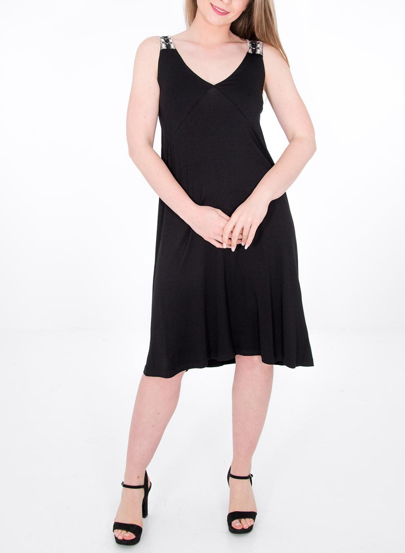 Θηλυκό μαύρο φόρεμα