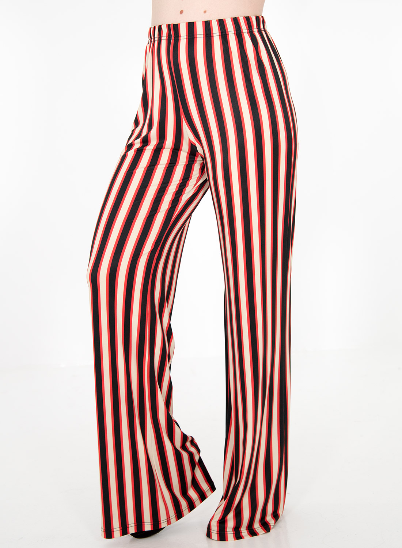 Ριγέ πολύχρωμη παντελόνα