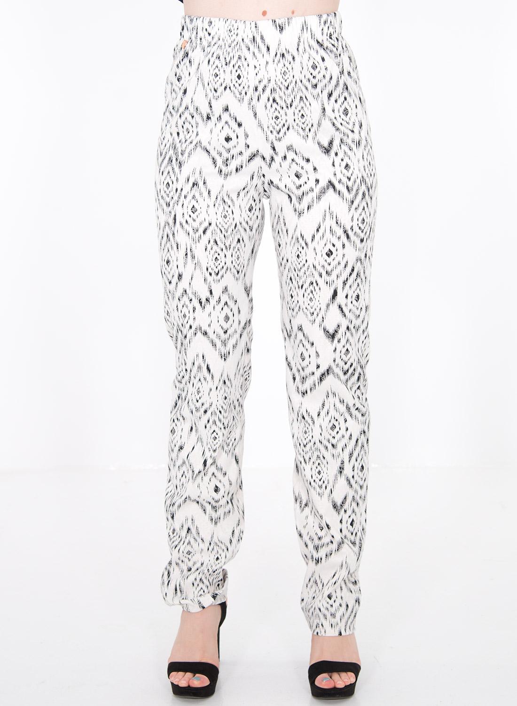 Ασπρόμαυρο παντελόνι με λάστιχο