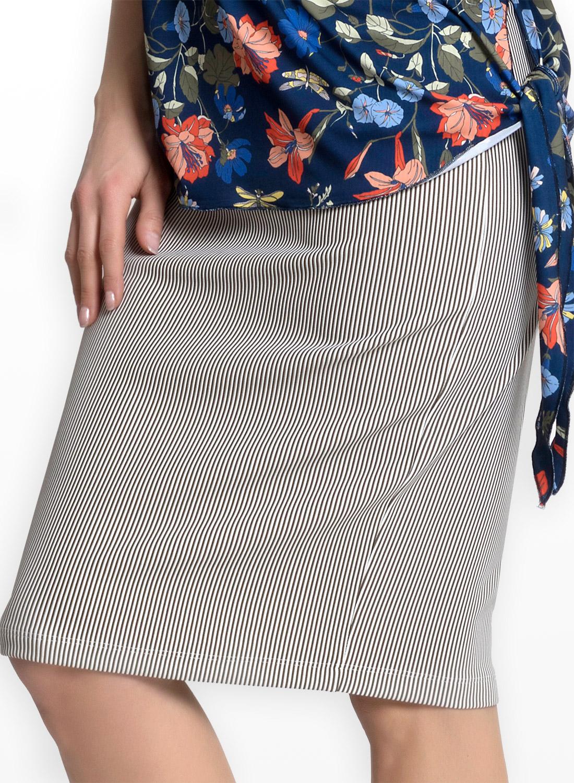 Ελαστική ασπρόμαυρη φούστα