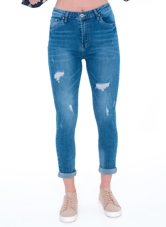 Μοντέρνο στενό τζιν παντελόνι