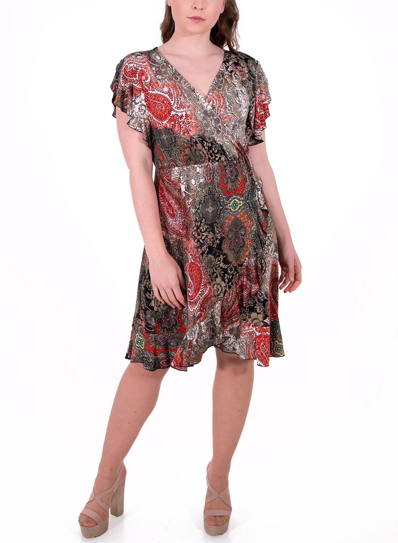 fd01a6d7561d Εμπριμέ ντραπέ φόρεμα