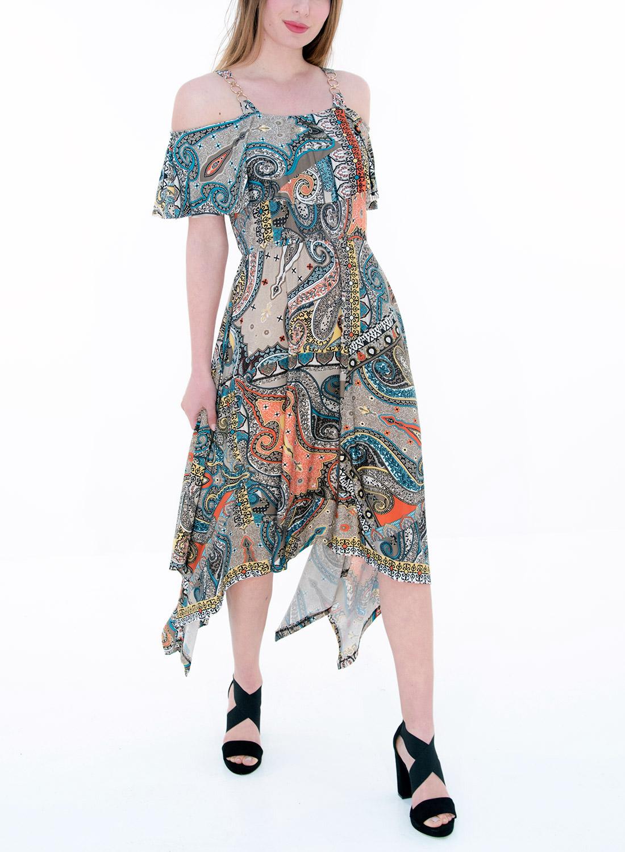 Ασύμμετρο θηλυκό φόρεμα