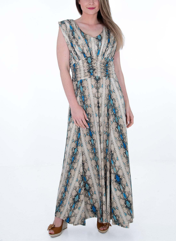Μαξι εμπριμέ φόρεμα