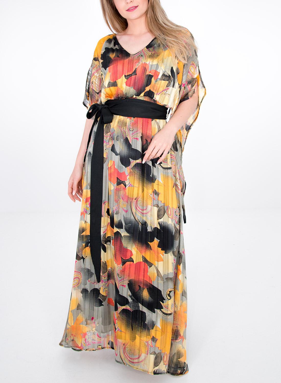 Αέρινο μάξι φόρεμα με ζώνη