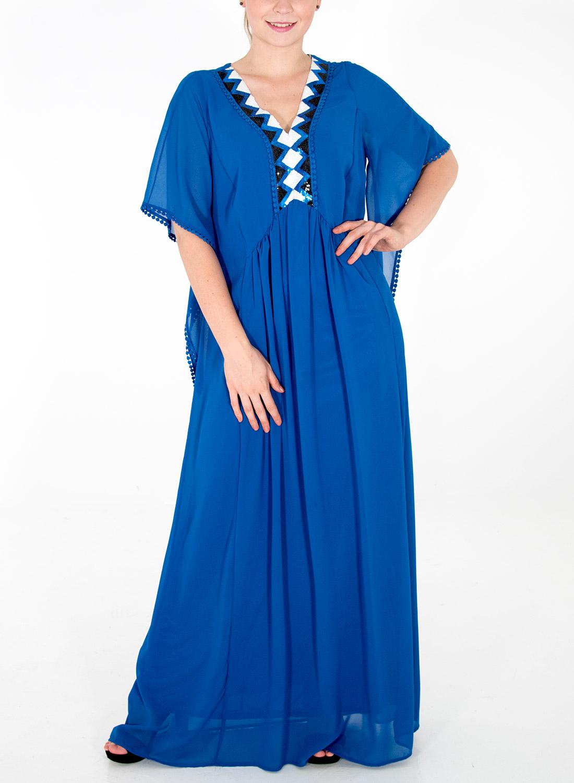 Ρουά αέρινο μάξι φόρεμα