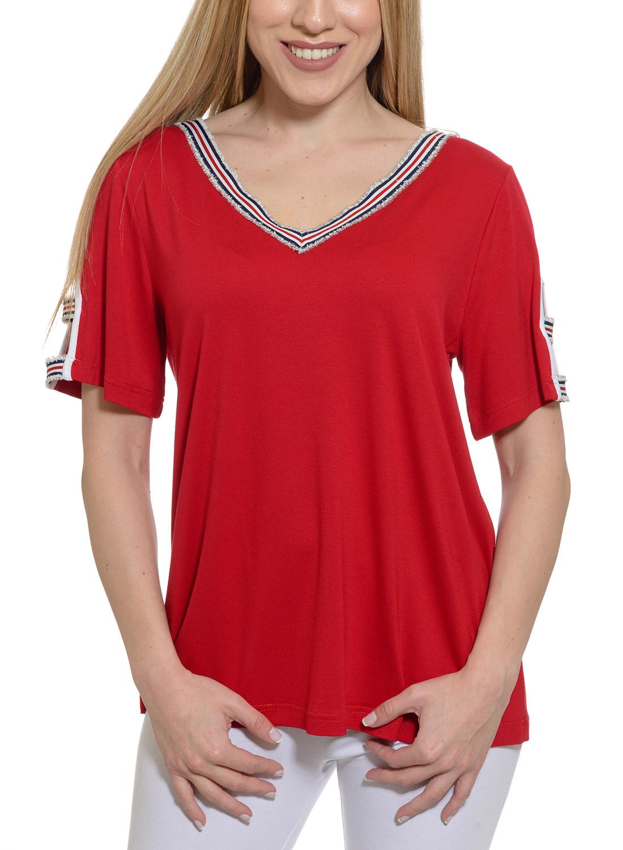 9ba05008ede2 Ευκολοφόρετη κόκκινη μπλούζα