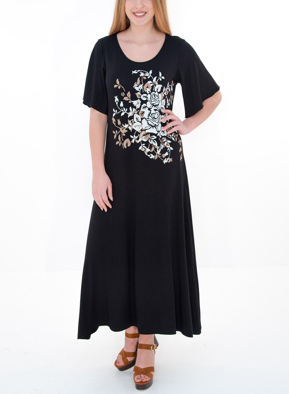 Άνετο μαύρο φόρεμα