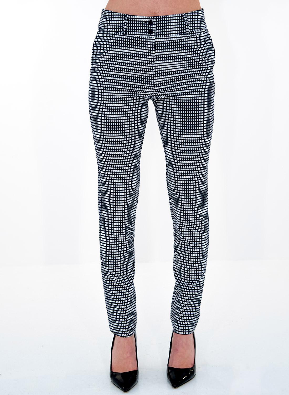 Μαύρο καρό ίσιο παντελόνι
