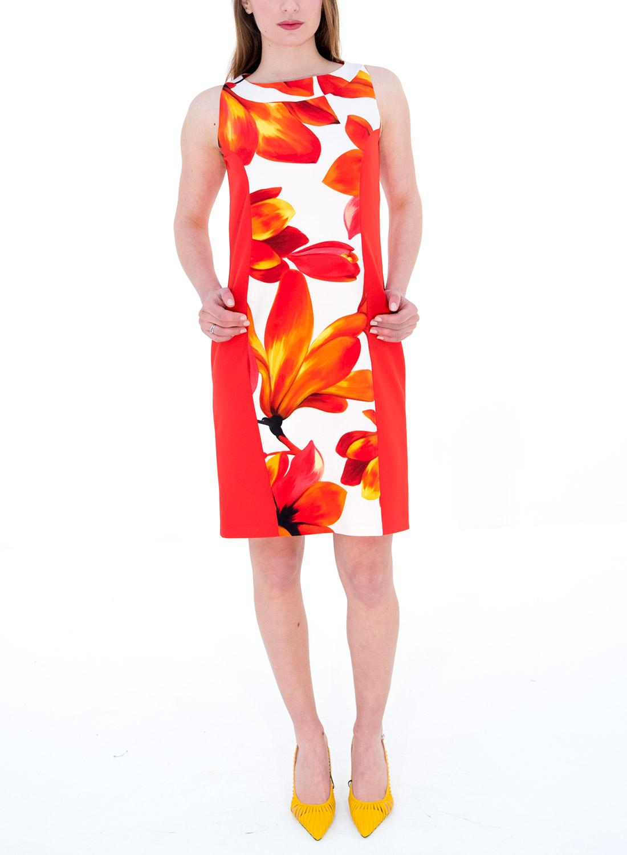 705df4bd270b Κόκκινο φλοράλ φόρεμα