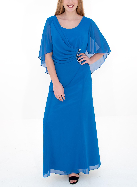 936efb6f7867 Μάξι μπλε ρουά αμπιγιέ φόρεμα