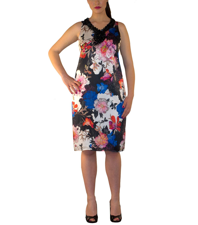 3e33e777d590 Αμάνικο φλοραλ φόρεμα
