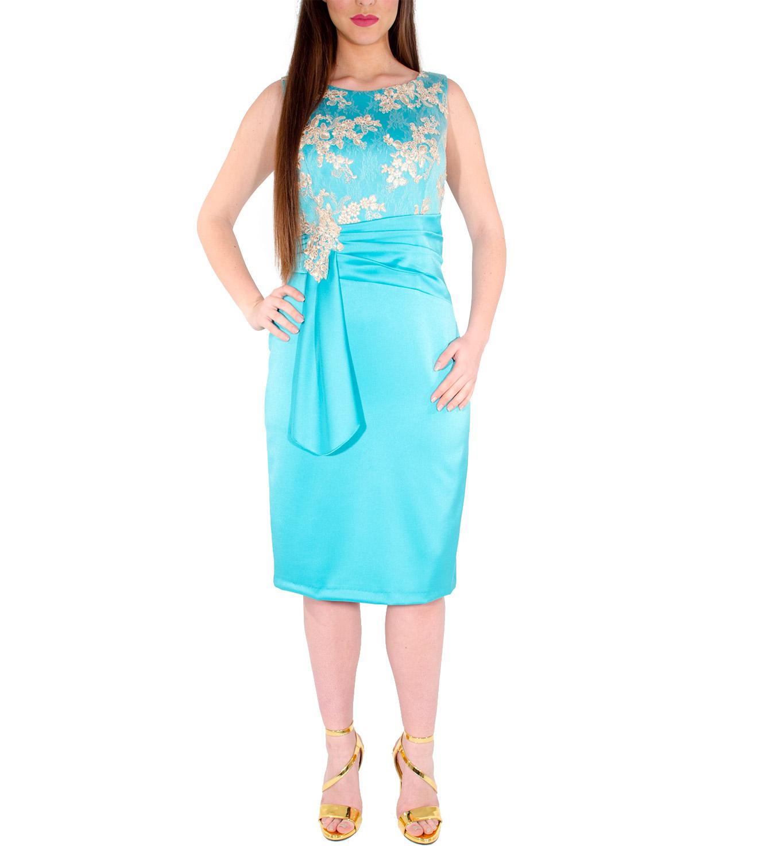 cb5613979f3e Αμπιγιέ Midi Φόρεμα με μπούστο δαντέλας