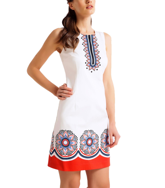 4a9946881a9c Βαμβακερό φόρεμα με σικάτα μοτίβα