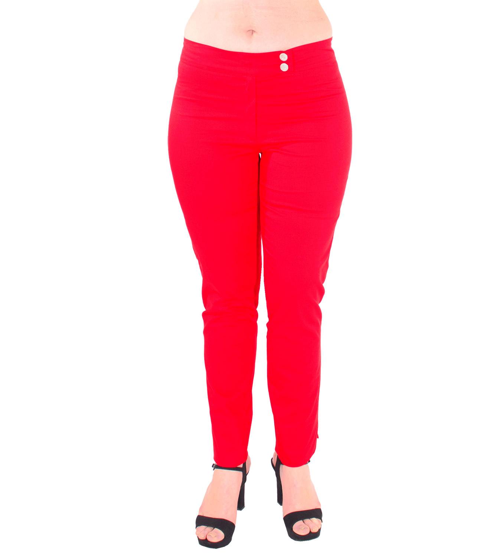 Βαμβακερό κόκκινο παντελόνι