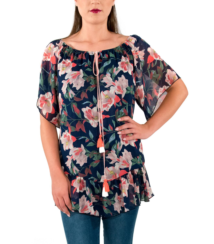 Αέρινη μπλούζα με λουλούδια