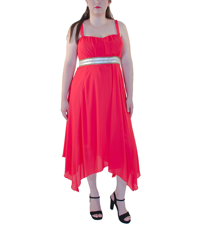 Αιθέριο κοραλί φόρεμα