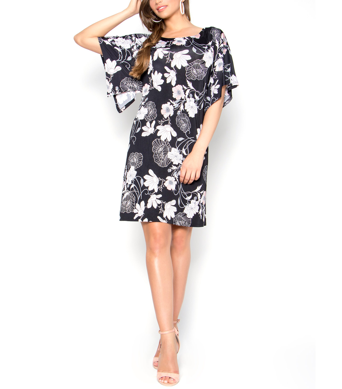 20db3d46bfed Φλοράλ φόρεμα με μανίκι