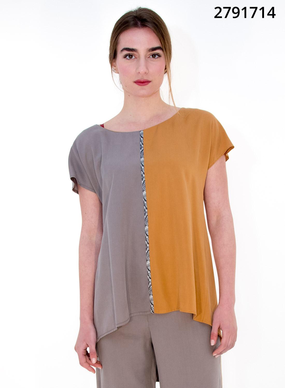 Δίχρωμη ανάλαφρη μπλούζα
