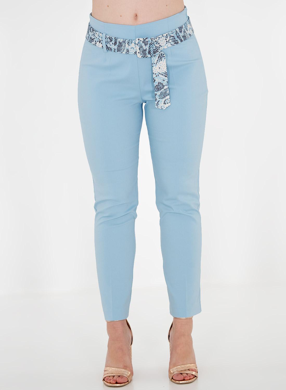 Σιέλ παντελόνι με ζώνη