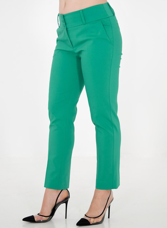 Φωτεινό μονόχρωμο ίσιο παντελόνι