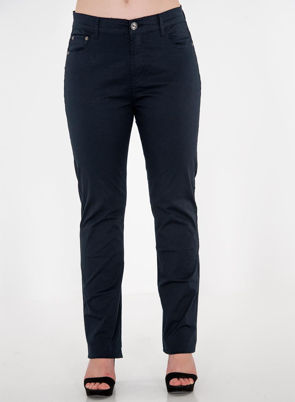 Μπλε βαμβακερό ίσιο παντελόνι