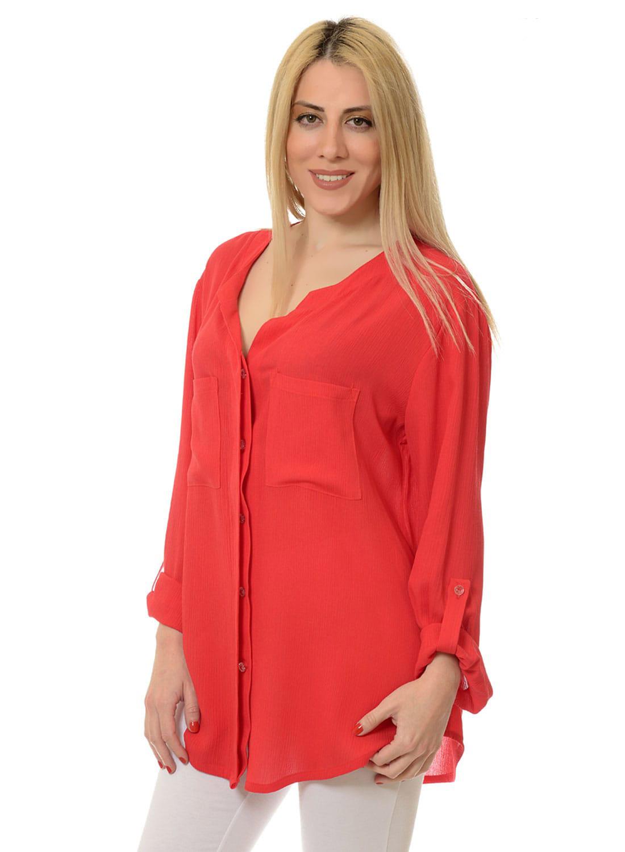 Κόκκινο ριχτό πουκάμισο