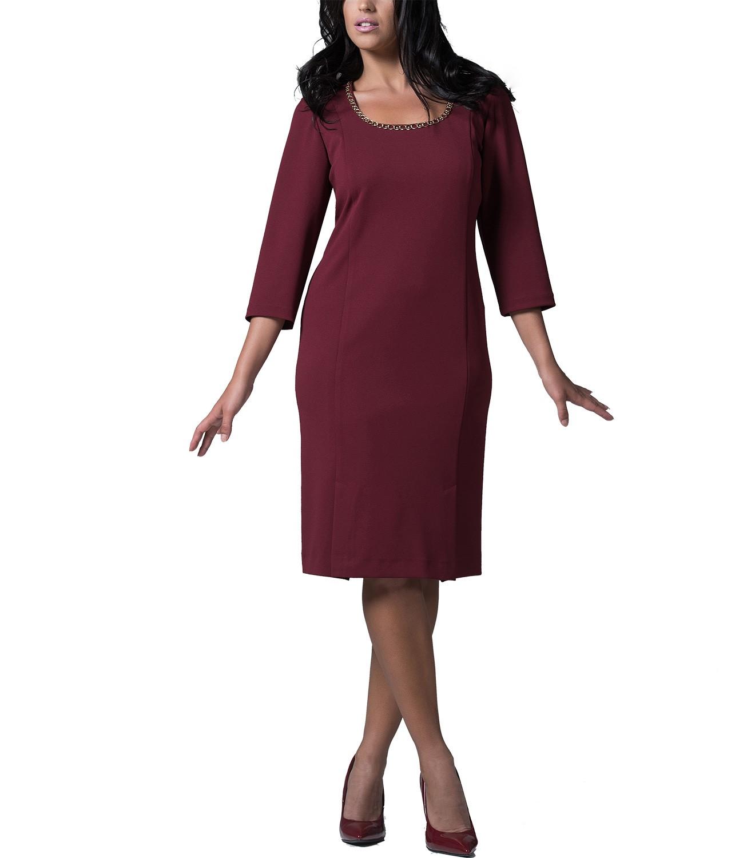 Διαχρονικό μπορντώ φόρεμα
