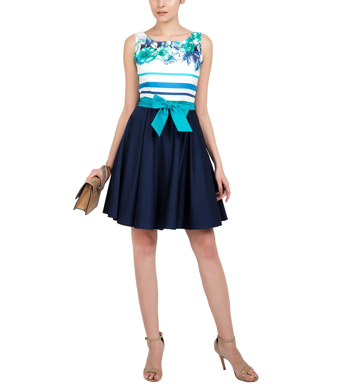 Βαμβακερό φόρεμα με ζώνη