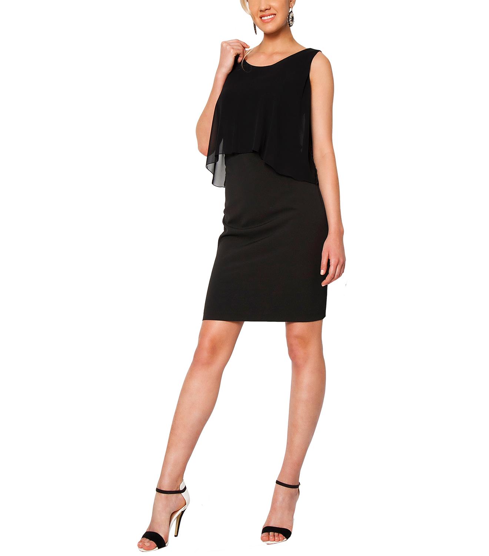 Midi μαύρο φόρεμα